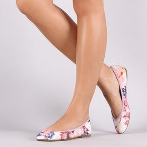 BAMBOO FLORAL FLATS SIZE 7.5